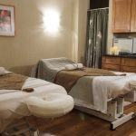 relaxation room with massage tables