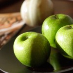 close up of green apples