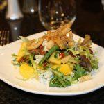 Mango, frisee, gorgonzola salad