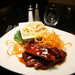 Sweet chili pork ribs- with a side of coleslaw