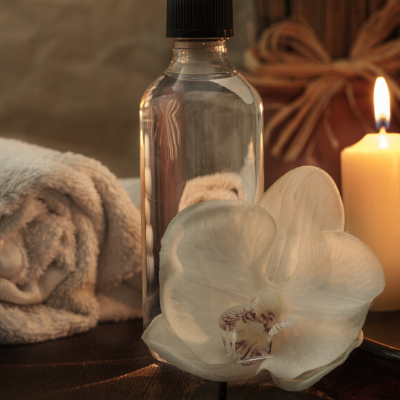 Spa Oils with candle