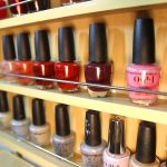 nail polish options at salon