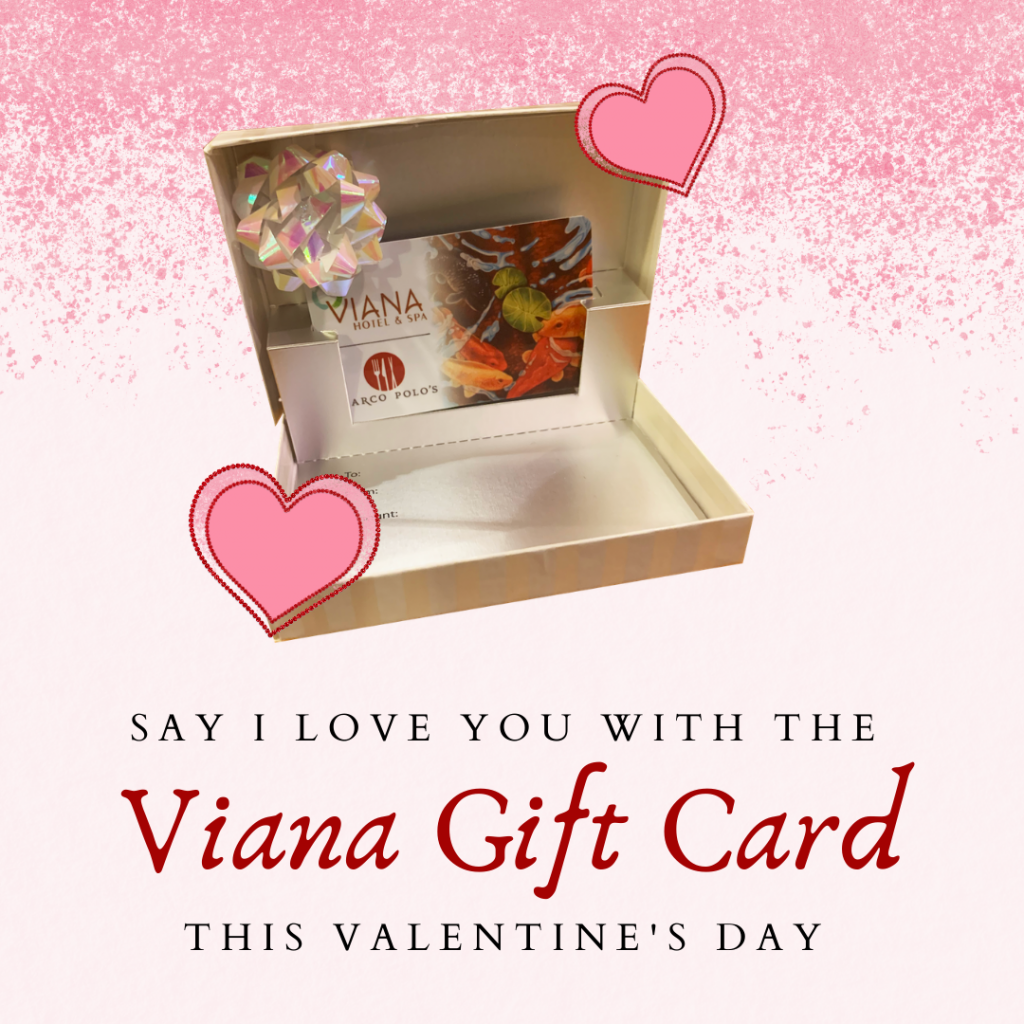 viana gift card in a box for valentines day
